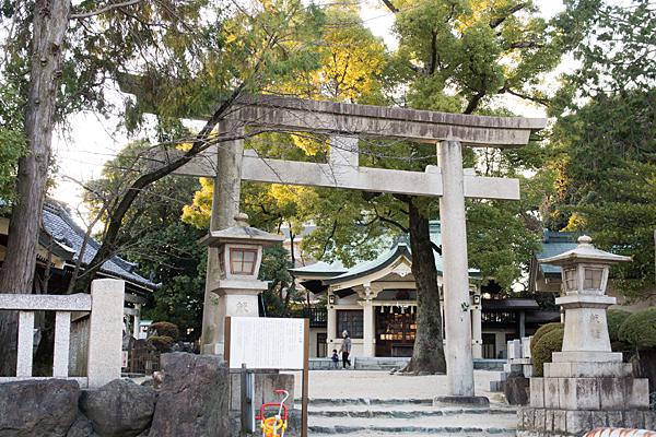 川嶋神社鳥居と拝殿