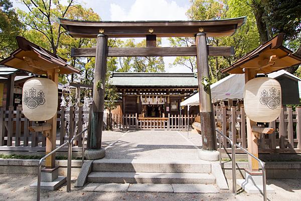 豊国神社鳥居と拝殿