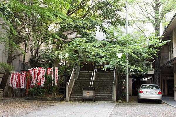 朝日神社境内の風景