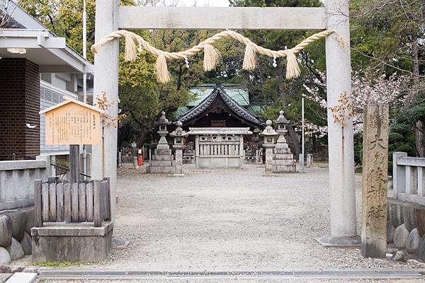 大乃伎神社鳥居から拝殿
